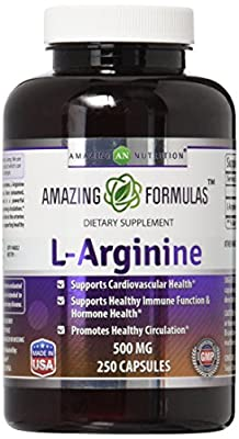 L-Arginine 500 mg Supplement for Women & Man 250 Capsules