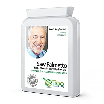 Saw Palmetto 2500mg 90 Capsules - Urinary Tract and Prostate Health Support Supplement for Men